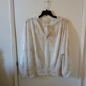 Michael Michael Kors sparkling holiday blouse